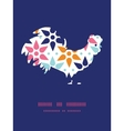 abstract colorful stars rooster silhouette vector image vector image