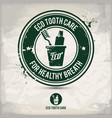 alternative eco tooth care stamp vector image