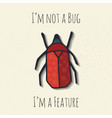 beetle for t-shirt or sticker vector image