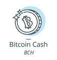 bitcoin cash cryptocurrency coin line icon of vector image vector image
