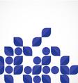 blue modern geometrical leaf shape background vector image vector image