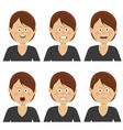 businesswoman with various avatar expressions set vector image