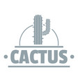 cactus logo simple gray style vector image vector image
