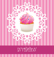 card with cupcake vector image
