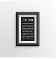 classis frame on wall vector image
