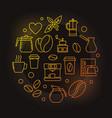 coffee house yellow on dark vector image vector image