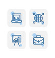 creative blue business financial icons design vector image vector image
