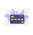 credit card single flat icon on white background vector image vector image