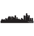 Detroit Michigan skyline vector image vector image