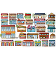 Different shops and buildings vector image