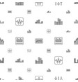 equalizer icons pattern seamless white background vector image vector image