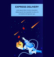 express food delivery flat poster template vector image vector image