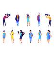 fashion models and paparazzi vector image