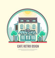 flat style icon design of cafe building vector image vector image