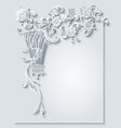 floral and bird hand drawn vintage vector image