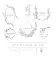 floral elements for logos frames borders vector image