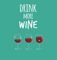 glasses wine vector image