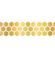 gold foil hexagon shapes seamless border vector image