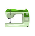 green modern electronic sewing machine vector image vector image