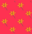 hand drawn lilly flower seamless pattern vector image vector image