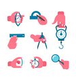 Hand-held measurement tools vector image vector image