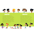 happy children holding blank poster vector image