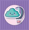 kawaii cloud design vector image
