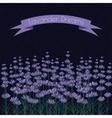 lavender sprigs on dark ink spots background vector image vector image