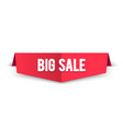 modern big sale banner best offer label for web vector image vector image