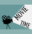 movie time flat style vector image vector image