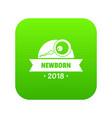 newborn human icon green vector image vector image