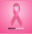 october breast cancer awareness month in vector image vector image