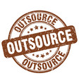 Outsource brown grunge round vintage rubber stamp