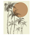 palm trees background vector image