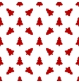 pattern for wrapping paper red christmas tree vector image vector image