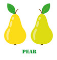 pear isolated object vector image