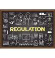 Regulation on chalkboard vector image vector image
