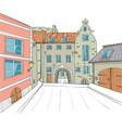riga the swedish gate vector image vector image