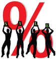 sale with four people silhouette vector image
