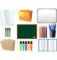 school supplies elements vector image vector image