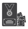 scientific prize icon vector image vector image