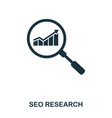 seo research icon line style icon design ui vector image vector image