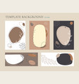 set abstract organic collage hand drawn vector image