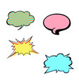 set of bright colorful blank speech bubbles vector image
