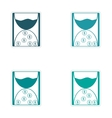 Set of stylish sticker on paper hourglass and