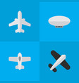 set simple airplane icons vector image