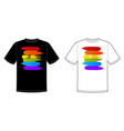 sign print for t-shirt with pride lgbt vector image