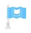 small waving flag flat design color icon vector image