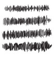 sound waves set audio player audio vector image vector image