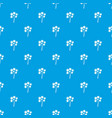 spiny tropical palm tree pattern seamless blue vector image vector image